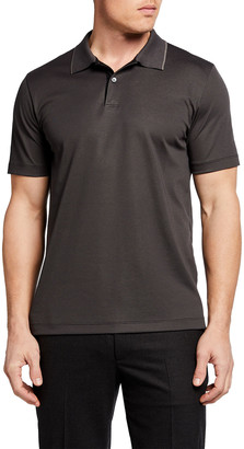 Theory Men's Striped Interlock Polo Shirt