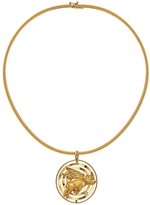 Retrouvaí Rotating Flying Pig Medallion Necklace