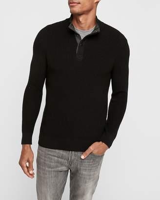 Express Snap Mock Neck Cotton Sweater