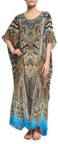 Camilla Printed Beaded Round-Neck Convertible Coverup