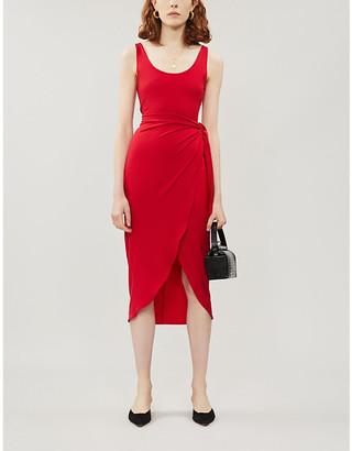 Reformation Kaila wrapover stretch-jersey midi dress