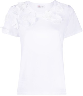 RED Valentino flower-patch T-shirt