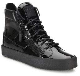 Giuseppe Zanotti Zipper-Accented High-Top Sneakers