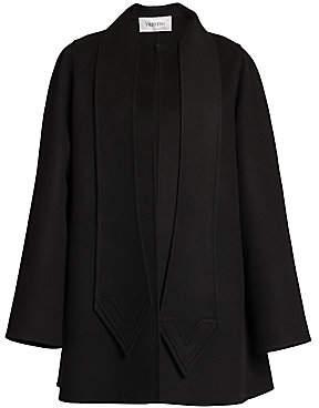 Valentino Women's Intarsia V Scarf Wool & Cashmere Jacket
