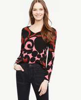 Ann Taylor Petite Tulip V-Neck Sweater