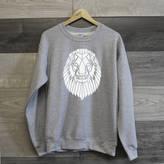 Stencilize Graphic Lion Crewneck Sweater