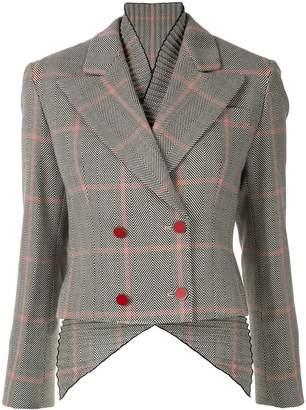 Giorgio Armani checked button jacket