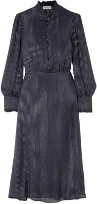 Paul & Joe Ruffle-trimmed Silk-blend Chiffon Midi Dress