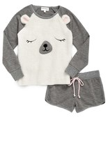 PJ Salvage Girl's 'Polar Bear' Two-Piece Pajamas