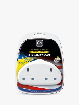 Go Travel Duo USB UK to USA Travel Adaptor