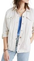 Madewell Women's Oversize White Denim Jacket