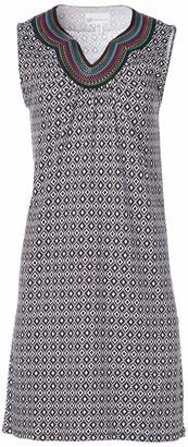 Rafaella Women's Diamonte Geo Print Sleeveless Dress with Embroidery
