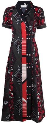 Pierre Louis Mascia Diomede cotton wrap dress