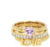 Juicy Couture Stacked Love Ring Set