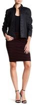 ATM Anthony Thomas Melillo Stripe Ribbed Pull-On Skirt