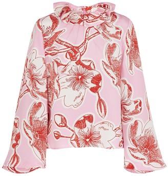 Stine Goya Poppy floral-print silk blouse