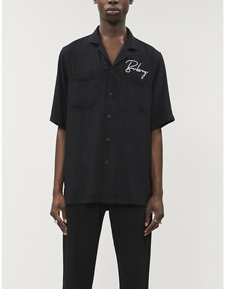 Burberry Logo-embroidered woven shirt