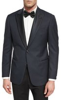 Armani Collezioni G Line Jacquard Dinner Jacket, Navy