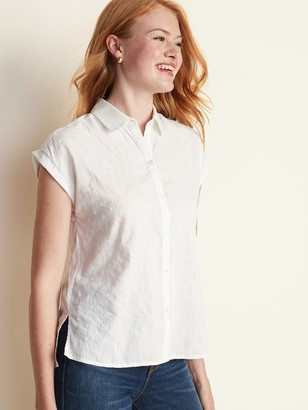 Old Navy Textured Button-Front Shirt for Women