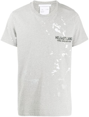 Helmut Lang logo paint print T-shirt