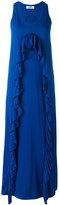 MSGM ruffle trim dress - women - Cotton/Polyester - S