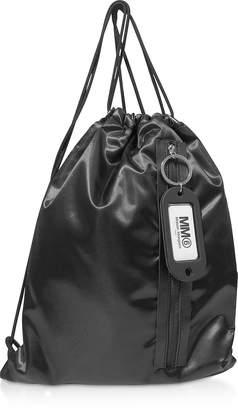 Maison Margiela Black Drawstring Nylon Backpack
