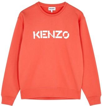 Kenzo Coral Logo-print Cotton Sweatshirt