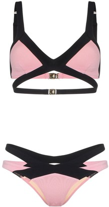 Agent Provocateur Mazzy triangle cutout bikini