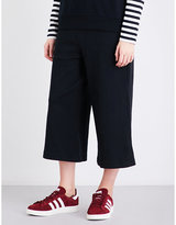 Izzue Wide cropped high-rise jersey culottes