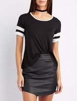 Charlotte Russe Knotted Football Tee