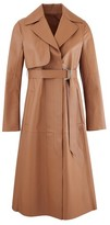 Sportmax Acaici leather trench coat