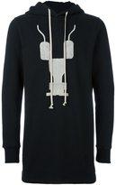 Rick Owens abstract print hoodie - men - Cotton - XS