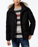 Calvin Klein Men's Faux-Fur-Lined Hooded Coat