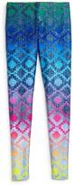 Terez Girls' Find Your Tribe Rainbow Leggings - Sizes 7-16