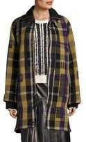 Public School Elanor Wool Plaid Two-Fer Coat