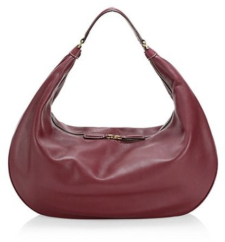 STAUD Large Sasha Leather Shoulder Bag