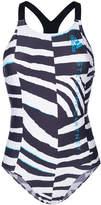 adidas by Stella McCartney zebra print swimsuit