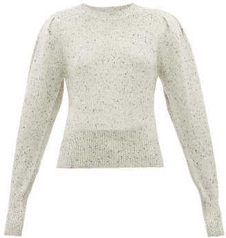Isabel Marant Colroy Puff Sleeve Cashmere Sweater - Womens - Light Grey