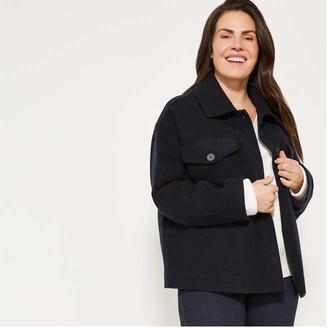 Joe Fresh Women+ Button-Front Jacket, JF Black (Size 1X)