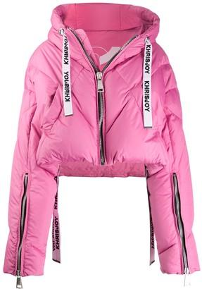 KHRISJOY Cropped Hooded Puffer Jacket