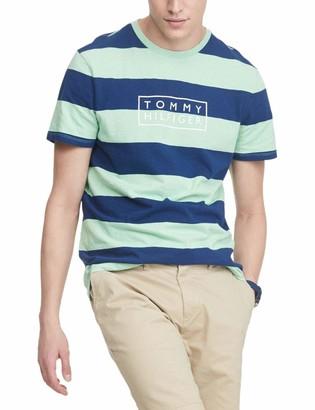 Tommy Hilfiger Men's Short Sleeve Stripe Crewneck T Shirt