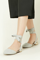 Forever 21 FOREVER 21+ Strappy Faux Suede Flats