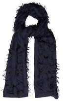 Chloé Fil coupé wool and silk-blend scarf