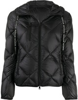 Moncler diamond-quilted hooded jacket