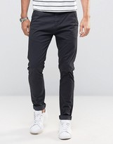 Solid Skinny Fit Chinos With Stretch