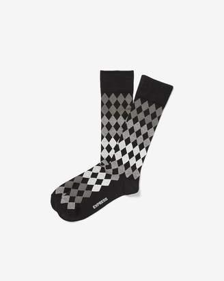 Express Supersoft Diamond Print Dress Socks