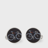 Paul Smith Men's Navy Silk Bicycle Cufflinks