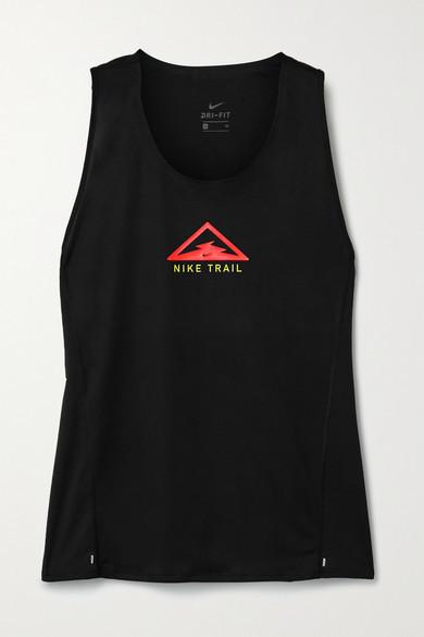 Nike City Sleek Printed Dri-fit Tank - Black