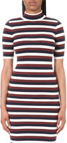 Victoria Beckham Striped wool-blend top