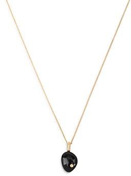 AllSaints Onyx Pendant Necklace, 16